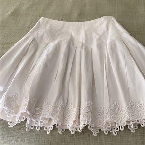 Skirt w/ eyelet fringe
